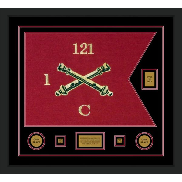 "Field Artillery 28"" x 20"" Guidon Design 2820-D2-M5 Framed"