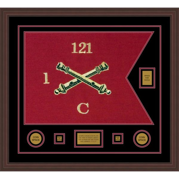 "Field Artillery 28"" x 20"" Guidon Design 2820-D2-M6 Framed"