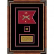 """Field Artillery 7"""" x 5"""" Guidon Design 75-D2-M1 Framed"""