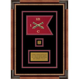 "Field Artillery 7"" x 5"" Guidon Design 75-D2-M1 Framed"