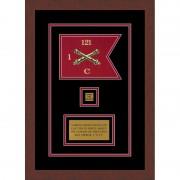"""Field Artillery 7"""" x 5"""" Guidon Design 75-D2-M3 Framed"""