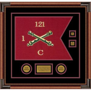 "Field Artillery 20"" x 15"" Guidon Design 2015-D3-M4 Framed"