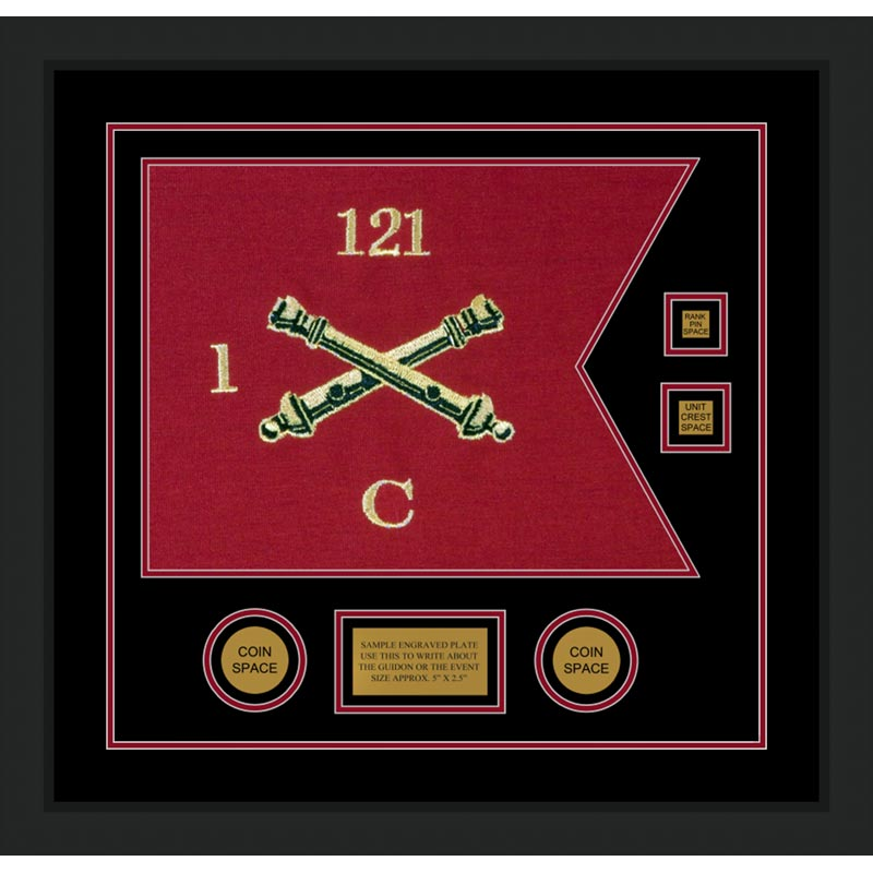 Field Artillery 20 X 15 Guidon Design 2015 D3 M5 Framed