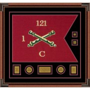 "Field Artillery 28"" x 20"" Guidon Design 2820-D3-M4 Framed"