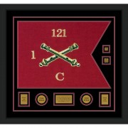 "Field Artillery 28"" x 20"" Guidon Design 2820-D3-M5 Framed"