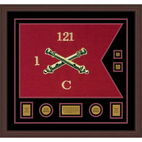 "Field Artillery 28"" x 20"" Guidon Design 2820-D3-M6 Framed"
