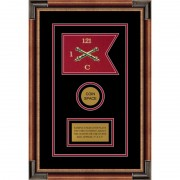 "Field Artillery 7"" x 5"" Guidon Design 75-D3-M1 Framed"