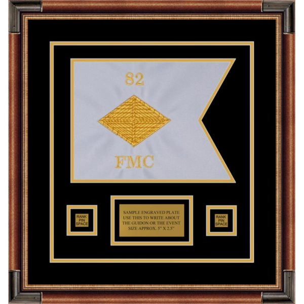 "Finance Corps 12"" x 9"" Guidon Design 129-D1-M1 Framed"