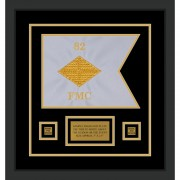 "Finance Corps 12"" x 9"" Guidon Design 129-D1-M2 Framed"