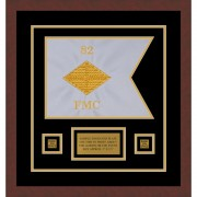 "Finance Corps 12"" x 9"" Guidon Design 129-D1-M3 Framed"