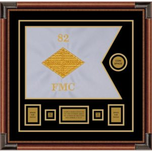 "Finance Corps 20"" x 15"" Guidon Design 2015-D1-M4 Framed"