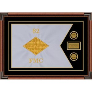 "Finance Corps 28"" x 20"" Guidon Design 2820-D1-M4 Framed"