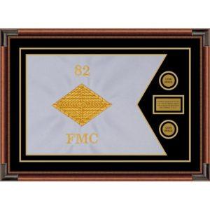 """Finance Corps 28"""" x 20"""" Guidon Design 2820-D1-M4 Framed"""