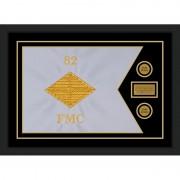 """Finance Corps 28"""" x 20"""" Guidon Design 2820-D1-M5 Framed"""