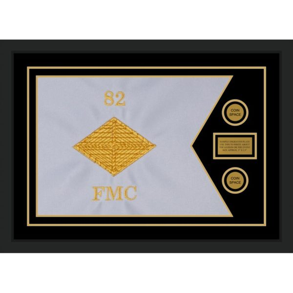 "Finance Corps 28"" x 20"" Guidon Design 2820-D1-M5 Framed"