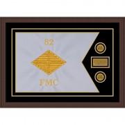 """Finance Corps 28"""" x 20"""" Guidon Design 2820-D1-M6 Framed"""
