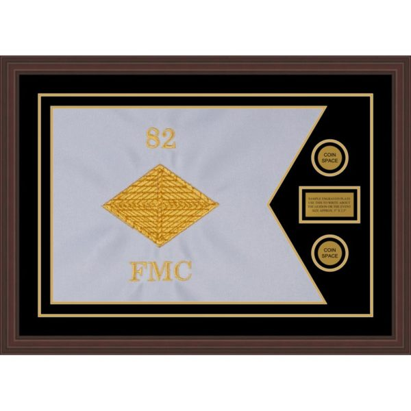 "Finance Corps 28"" x 20"" Guidon Design 2820-D1-M6 Framed"