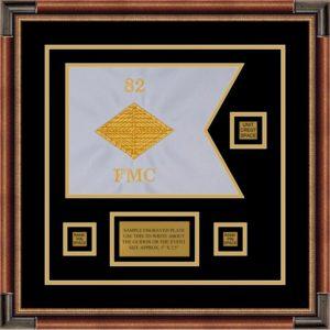"""Finance Corps 12"""" x 9"""" Guidon Design 129-D2-M1 Framed"""