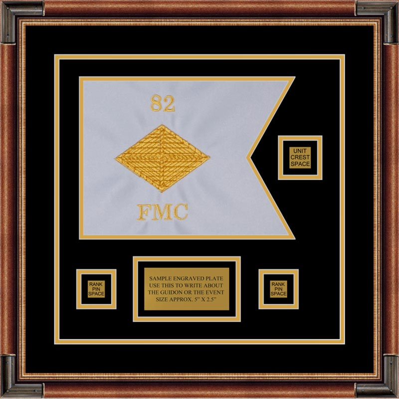 "Finance Corps 12"" x 9"" Guidon Design 129-D2-M1 Framed"