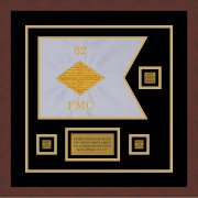 "Finance Corps 12"" x 9"" Guidon Design 129-D2-M3 Framed"