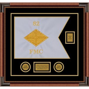 "Finance Corps 20"" x 15"" Guidon Design 2015-D2-M4 Framed"