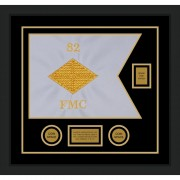 "Finance Corps 20"" x 15"" Guidon Design 2015-D2-M5 Framed"