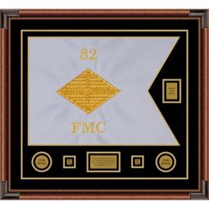 """Finance Corps 28"""" x 20"""" Guidon Design 2820-D2-M4 Framed"""