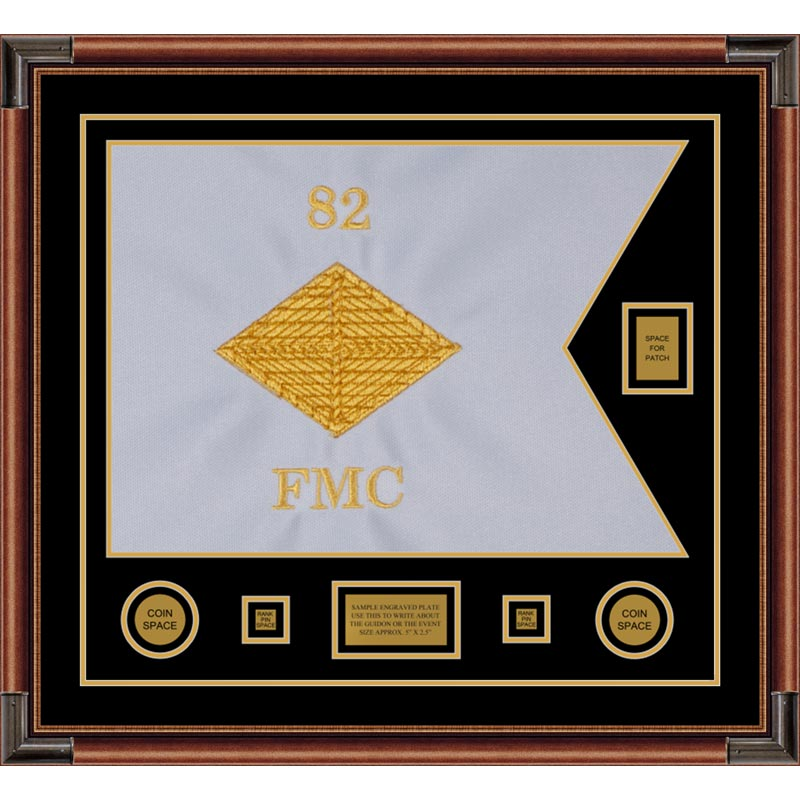 "Finance Corps 28"" x 20"" Guidon Design 2820-D2-M4 Framed"