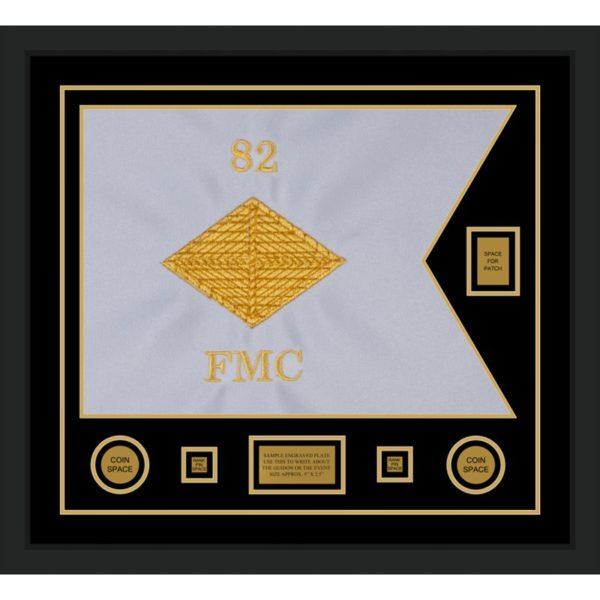 """Finance Corps 28"""" x 20"""" Guidon Design 2820-D2-M5 Framed"""