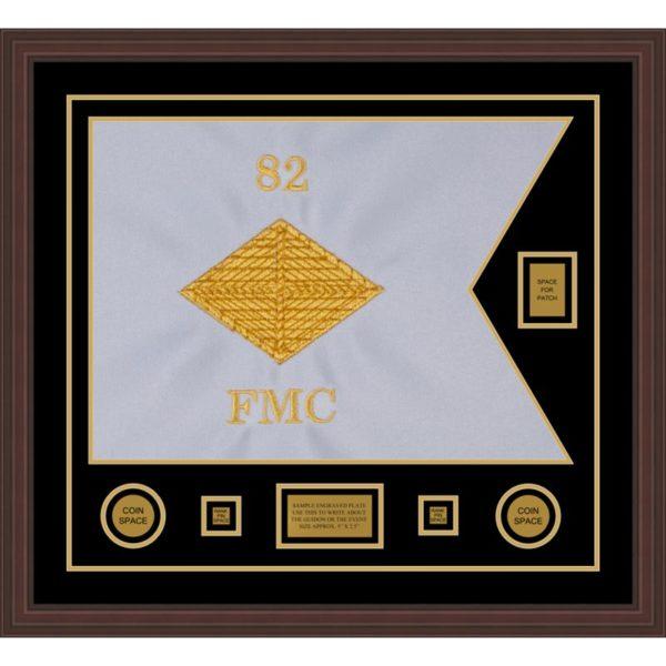 """Finance Corps 28"""" x 20"""" Guidon Design 2820-D2-M6 Framed"""