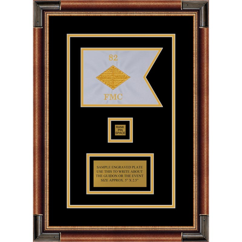 "Finance Corps 7"" x 5"" Guidon Design 75-D2-M1 Framed"
