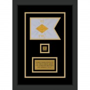"Finance Corps 7"" x 5"" Guidon Design 75-D2-M2 Framed"