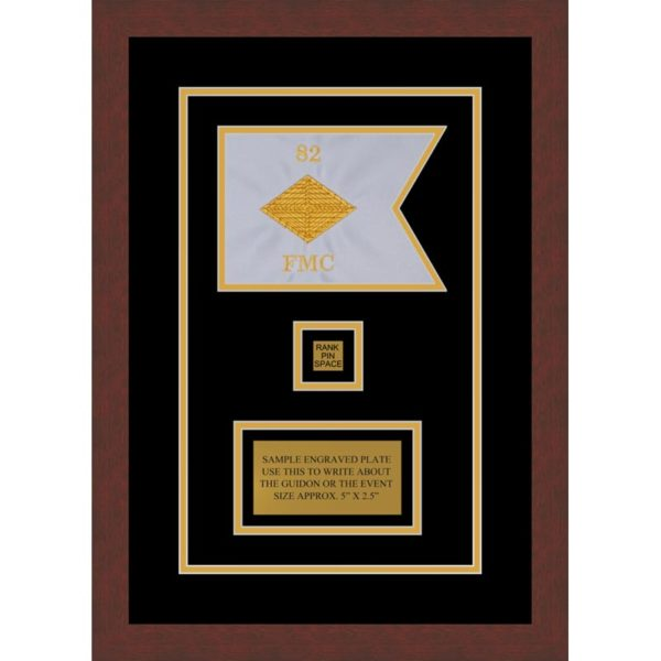 "Finance Corps 7"" x 5"" Guidon Design 75-D2-M3 Framed"