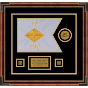 """Finance Corps 12"""" x 9"""" Guidon Design 129-D3-M1 Framed"""