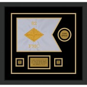 "Finance Corps 12"" x 9"" Guidon Design 129-D3-M2 Framed"