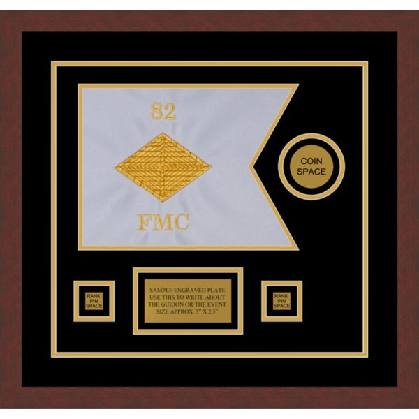 "Finance Corps 12"" x 9"" Guidon Design 129-D3-M3 Framed"