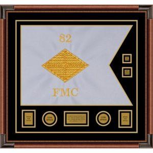 """Finance Corps 28"""" x 20"""" Guidon Design 2820-D3-M4 Framed"""