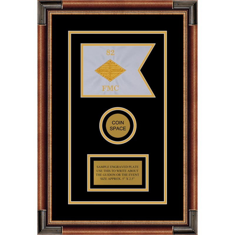 "Finance Corps 7"" x 5"" Guidon Design 75-D3-M1 Framed"