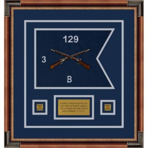 "Infantry Version 2 12"" x 9"" Guidon Design 129-D1-M1 Framed"