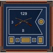 """Infantry Version 2 20"""" x 15"""" Guidon Design 2015-D1-M4 Framed"""