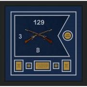 """Infantry Version 2 20"""" x 15"""" Guidon Design 2015-D1-M5 Framed"""