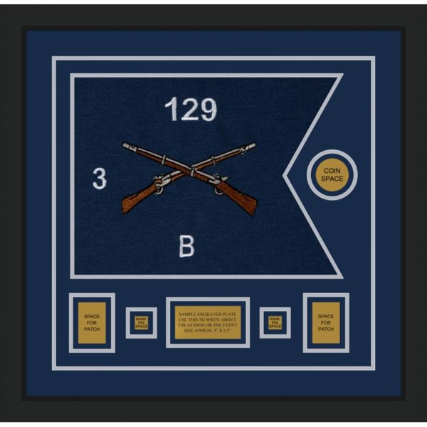 "Infantry Version 2 20"" x 15"" Guidon Design 2015-D1-M5 Framed"