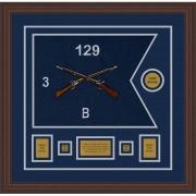 """Infantry Version 2 20"""" x 15"""" Guidon Design 2015-D1-M6 Framed"""