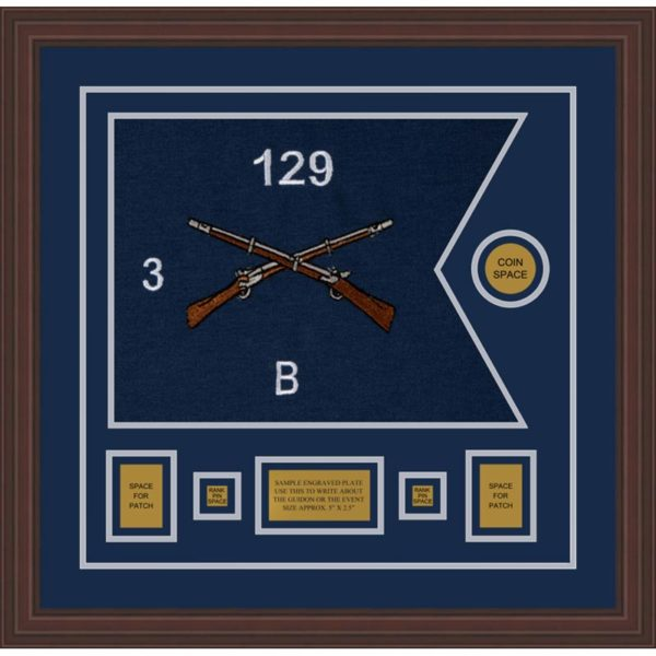 "Infantry Version 2 20"" x 15"" Guidon Design 2015-D1-M6 Framed"