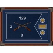 """Infantry Version 2 28"""" x 20"""" Guidon Design 2820-D1-M4 Framed"""