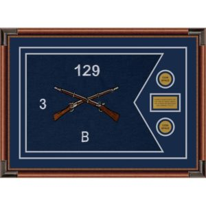 "Infantry Version 2 28"" x 20"" Guidon Design 2820-D1-M4 Framed"