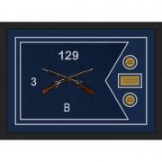 """Infantry Version 2 28"""" x 20"""" Guidon Design 2820-D1-M5 Framed"""