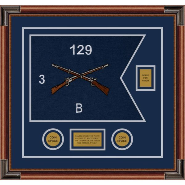 "Infantry Version 2 20"" x 15"" Guidon Design 2015-D2-M4 Framed"