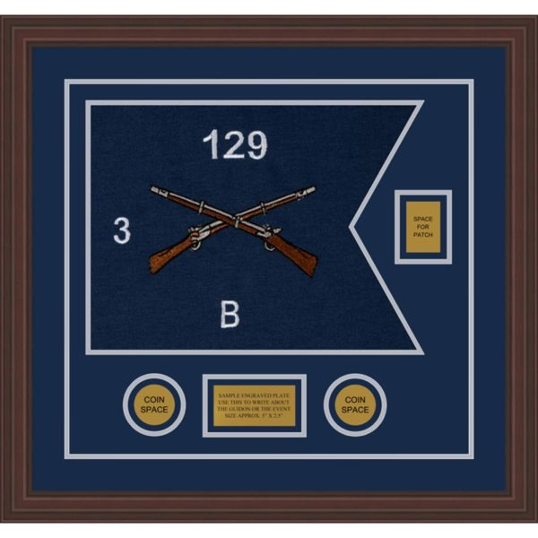 "Infantry Version 2 20"" x 15"" Guidon Design 2015-D2-M6 Framed"