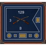 """Infantry Version 2 28"""" x 20"""" Guidon Design 2820-D2-M4 Framed"""